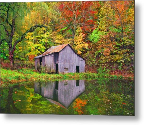 The Appalachian Reflection Metal Print