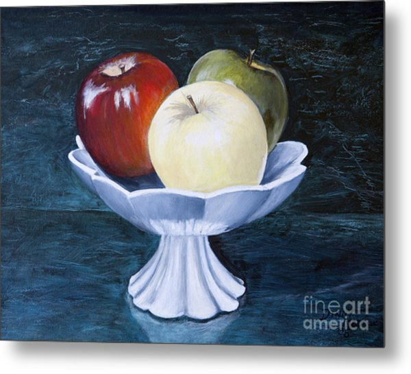 The Apple Dish Metal Print by Dinny Madill