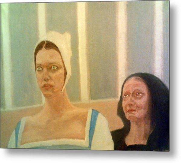 The Apprehension Of Impending Death For Katherine Howard Metal Print