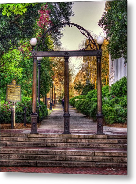 The Arch University Of Georgia Arch Art Metal Print