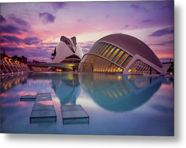 The Architecture Of Modern Valencia Spain  Metal Print by Carol Japp