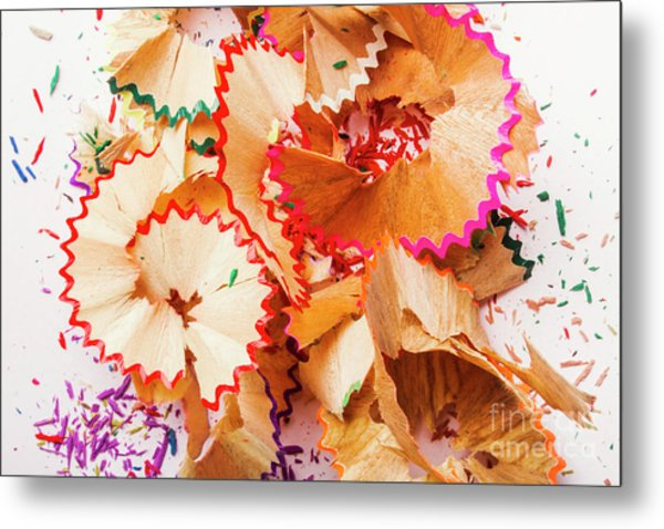 The Art Of Pencil Shavings Metal Print