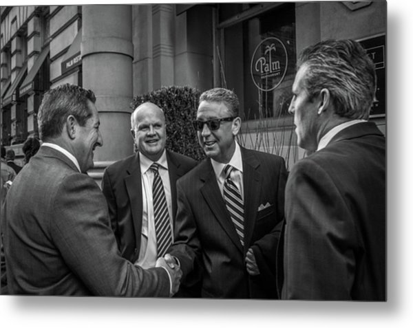 Metal Print featuring the photograph The Art Of The Deal by David Sutton