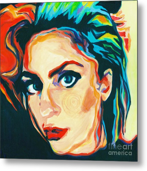 The Artist- Lady Gaga Metal Print