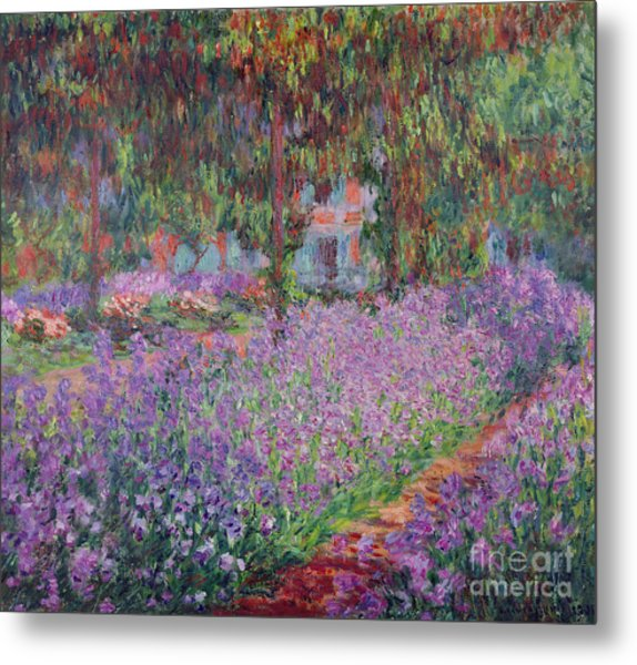 The Artists Garden At Giverny Metal Print