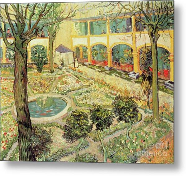 The Asylum Garden At Arles Metal Print