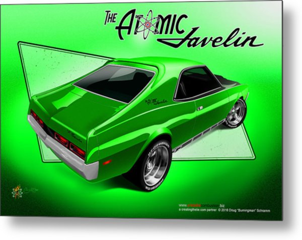 The Atomic Javelin Rear Metal Print