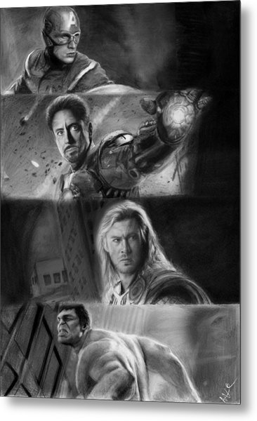 The Avengers Metal Print by Nat Morley