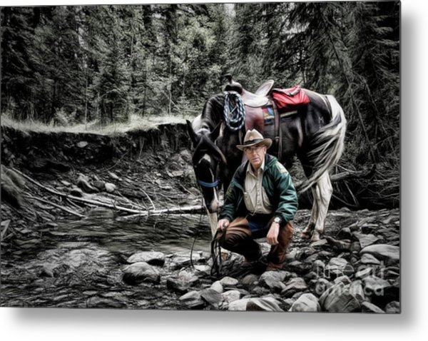 The Back Country Guardian Metal Print