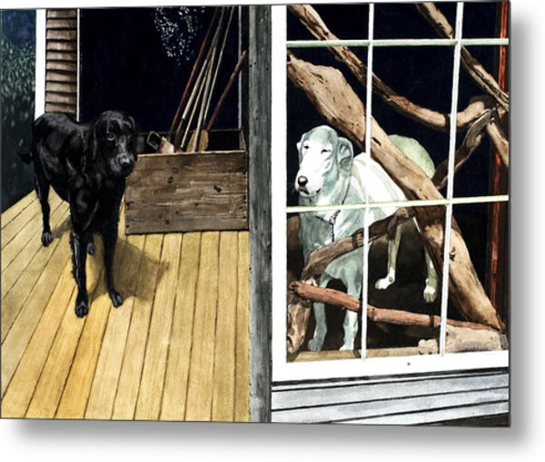 The Back Porch Metal Print by Perry Woodfin