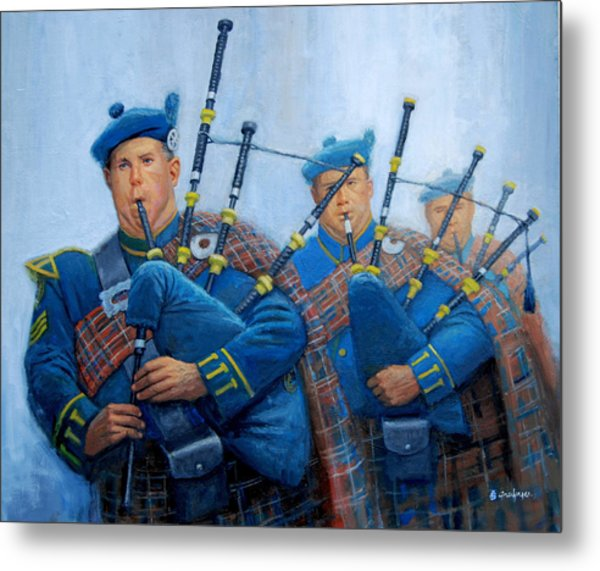 The Bagpipers Metal Print