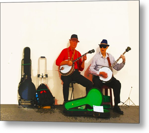 The Banjo Dudes Metal Print