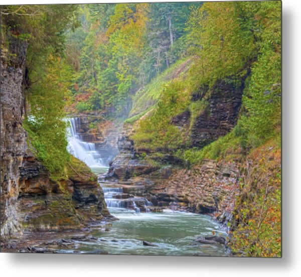 The Bashful Lower Falls Metal Print