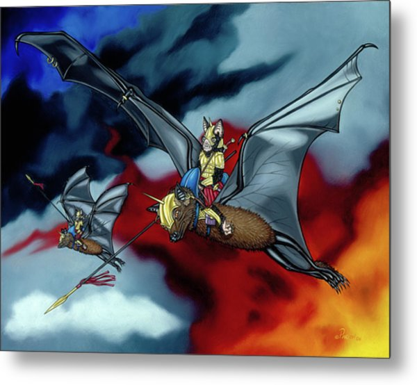 The Bat Riders Metal Print