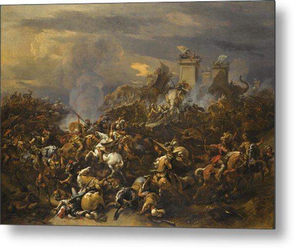 The Battle Between Alexander And Porus Metal Print