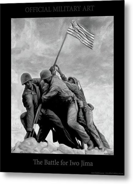 The Battle For Iwo Jima By Todd Krasovetz Metal Print