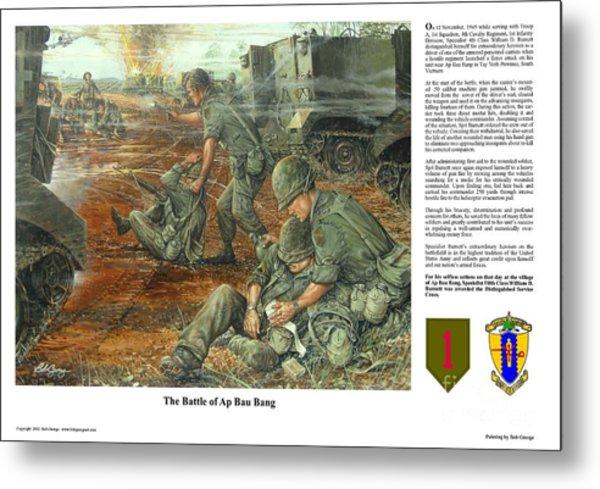 The Battle Of Ap Bau Bang Metal Print