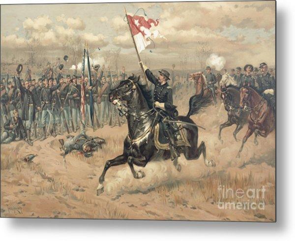 The Battle Of Cedar Creek Virginia Metal Print