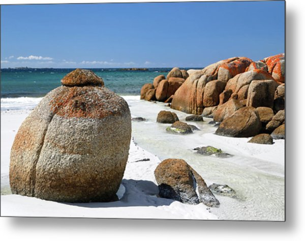 Metal Print featuring the photograph The Bay Of Fires by Nicholas Blackwell