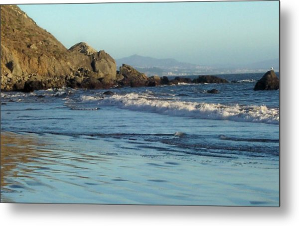 The Beach 2 Metal Print by Elizabeth Klecker