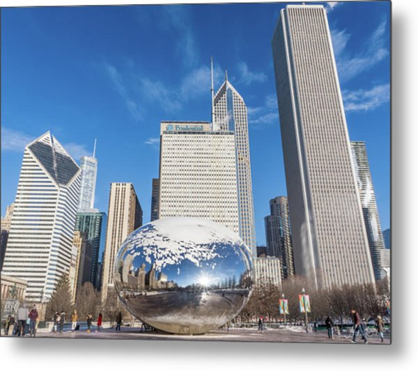 The Bean And The City Metal Print