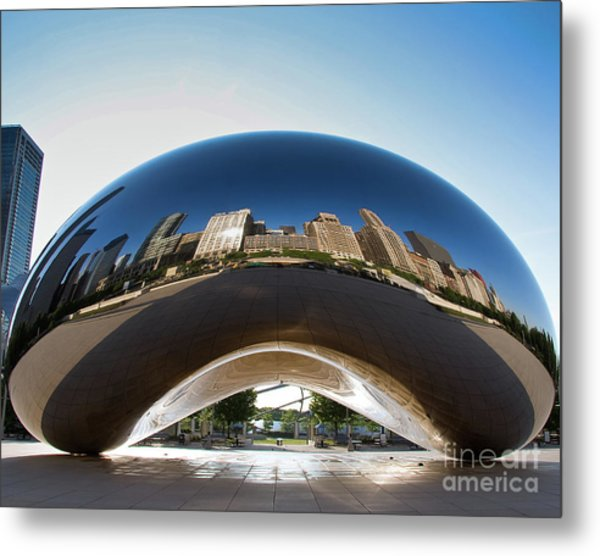 The Bean's Early Morning Reflections Metal Print