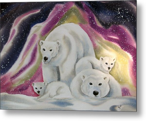 The Bear Family Metal Print by Amelie Gates