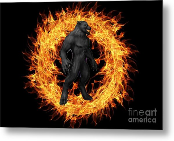 The Beast Emerges From The Ring Of Fire Metal Print