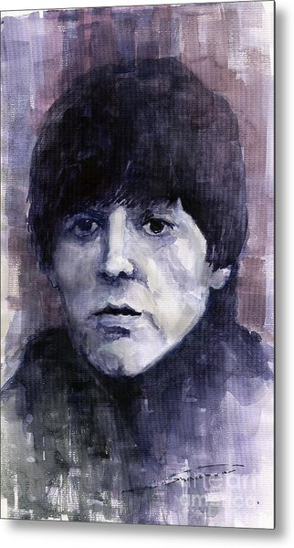 The Beatles Paul Mccartney Metal Print