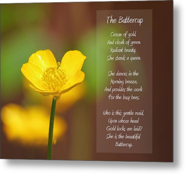 The Beautiful Buttercup Poem Metal Print