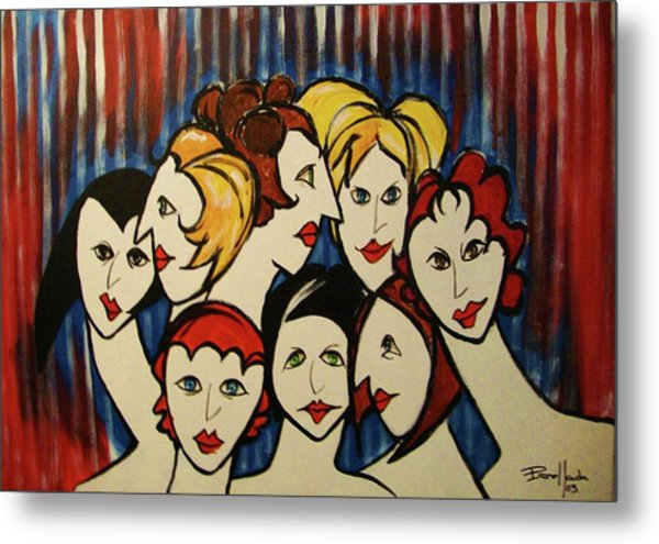 The Beautiful Ladies Metal Print