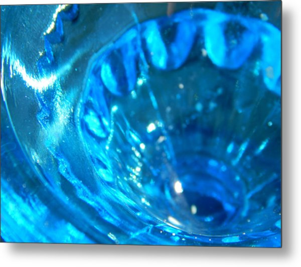 The Beauty Of Blue Glass Metal Print