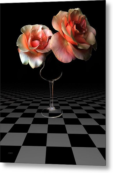The Beauty Of Roses Metal Print