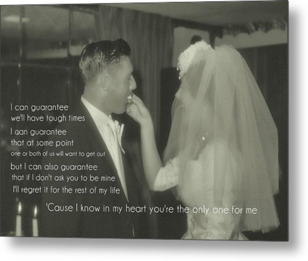 The Beginning Quote Metal Print by JAMART Photography
