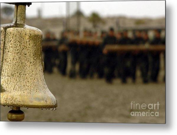 The Bell Is Present On The Beach Metal Print