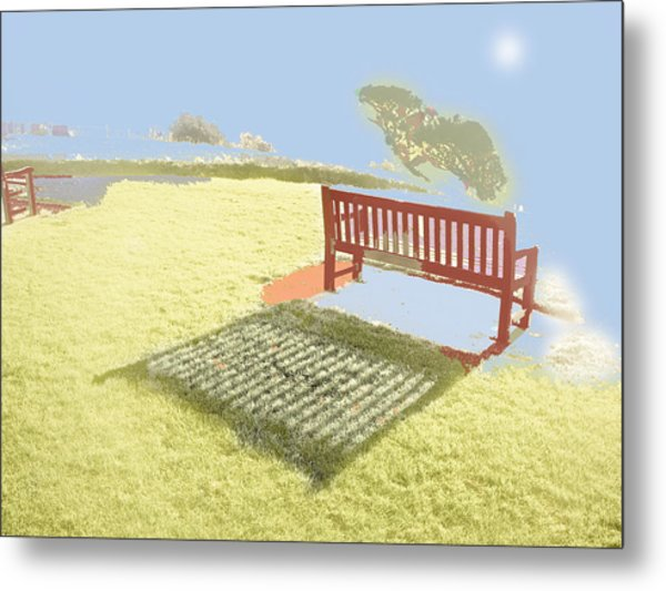 The Bench At The Edge Of The World Metal Print by Dan McCarthy