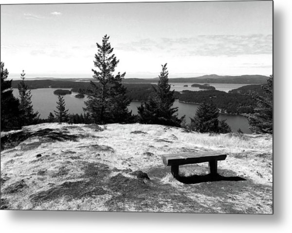 Metal Print featuring the photograph The Bench Atop Turtleback by Lorraine Devon Wilke