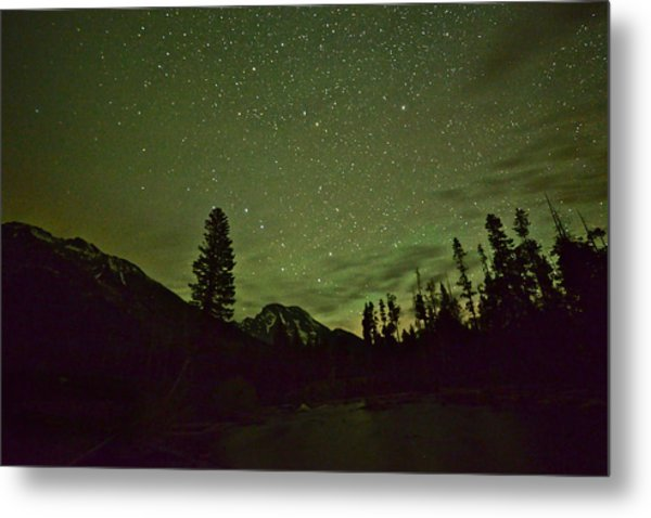 The Big Dipper Over Mount Moran Metal Print