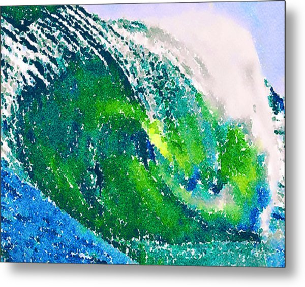 Metal Print featuring the painting The Big Green by Angela Treat Lyon