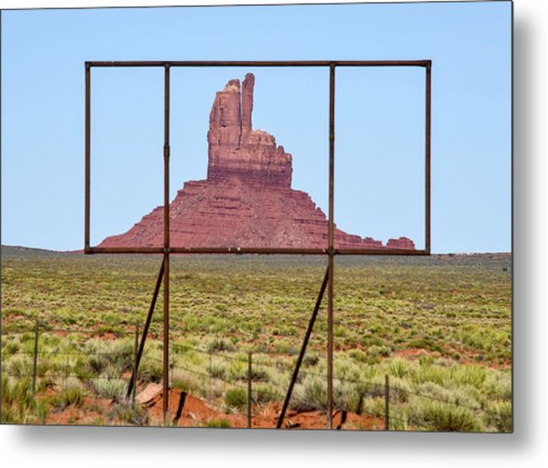 Utah Billboard Metal Print