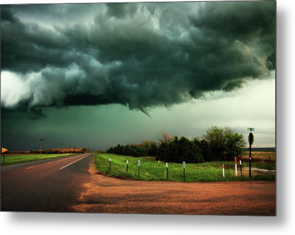The Birth Of A Funnel Cloud Metal Print