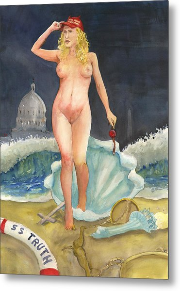 The Birth Of Stormy Rise Of The New Moral Metal Print