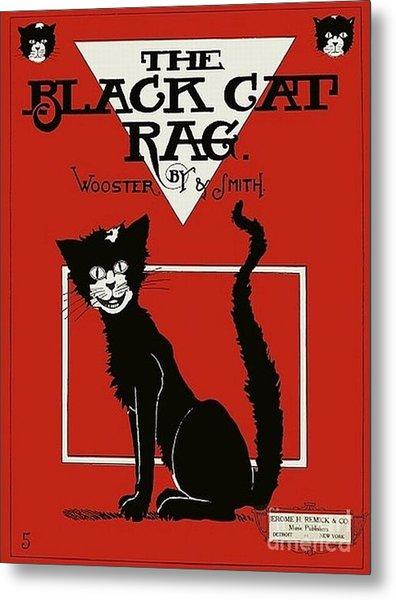 The Black Cat Rag 1905 Sheet Music Art Metal Print