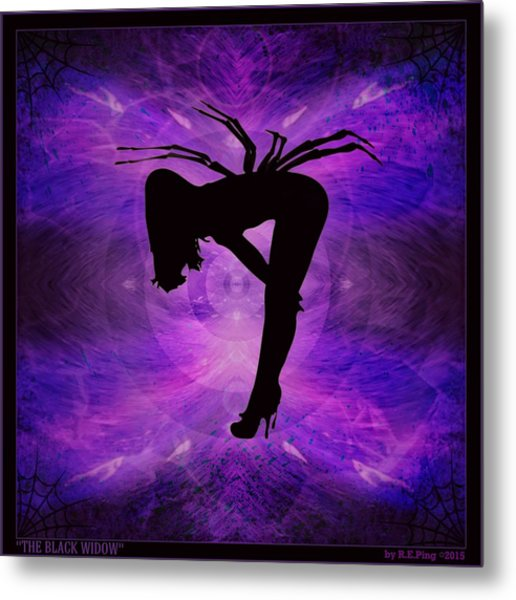 The Black Widow Metal Print