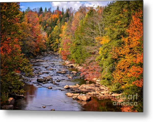 The Blackwater River In Autumn Color Metal Print