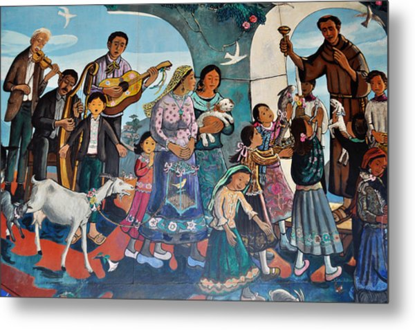 The Blessing Of Animals Olvera Street Metal Print
