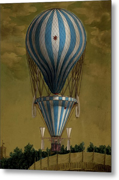 The Blue Balloon Metal Print