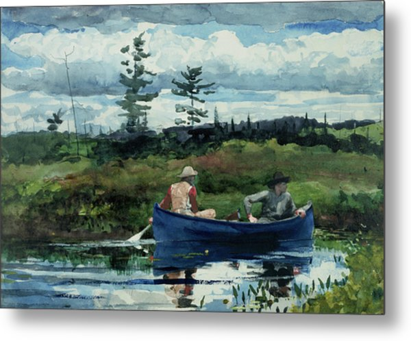 The Blue Boat Metal Print