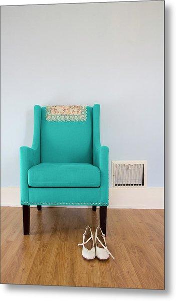 The Blue Chair Metal Print
