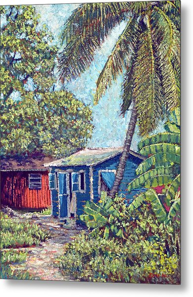 The Blue Cottage Metal Print